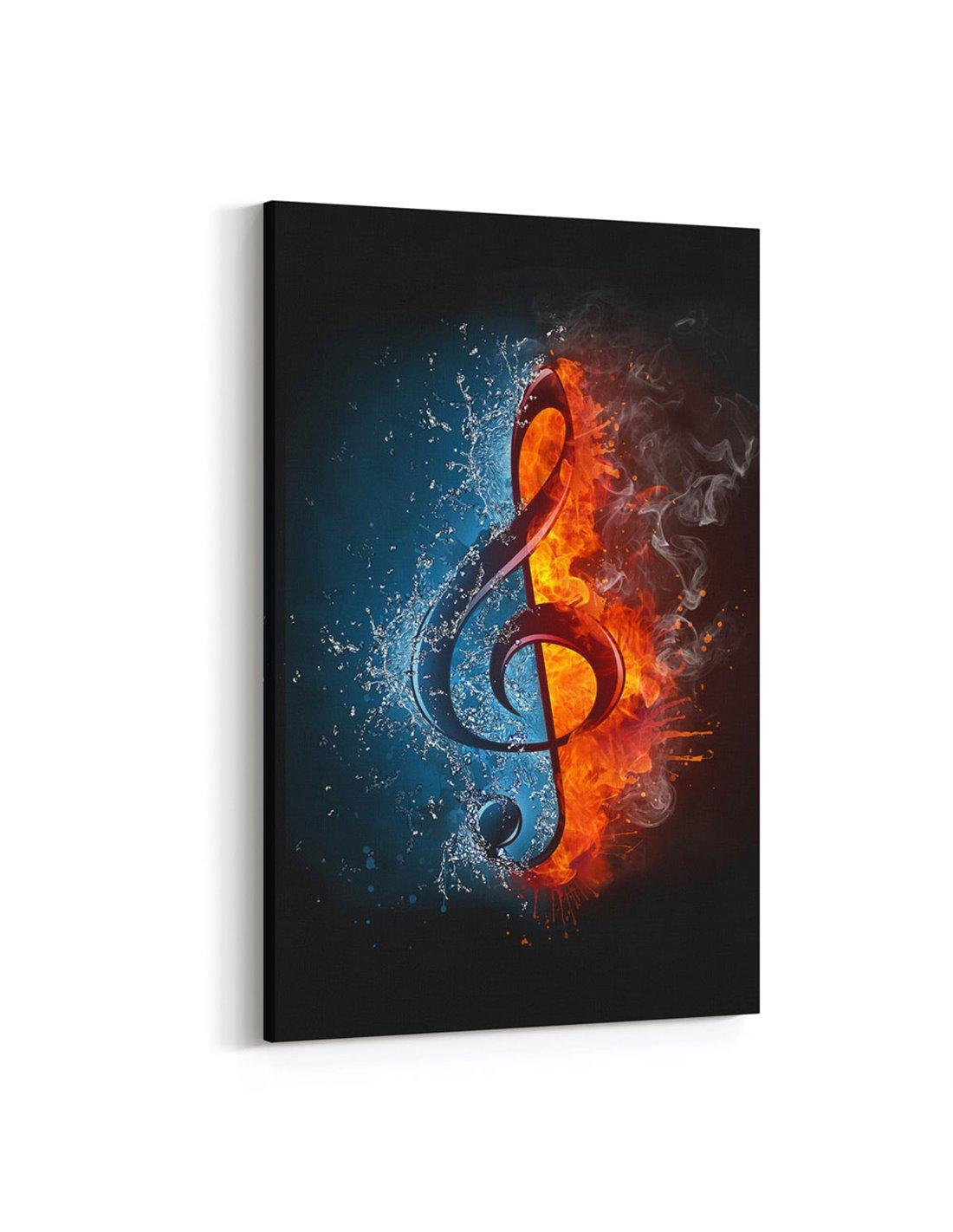 Muzik Notasi Kanvas Tablo