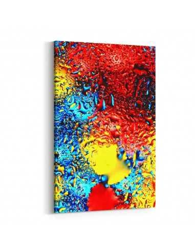 Renkli Damlalar Kanvas Tablo