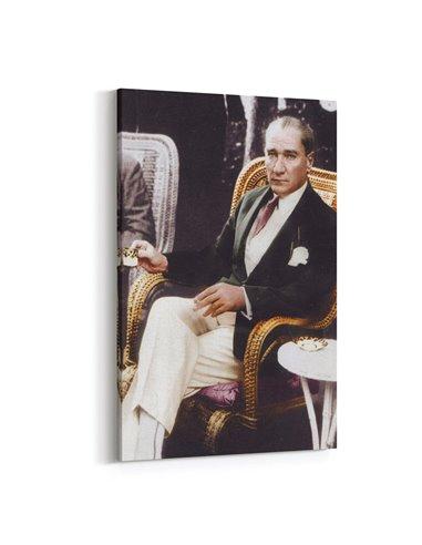 Atatürk ve Kahve Kanvas Tablo Kanvas Tablo