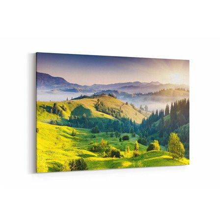 Sisli Tepeler Kanvas Tablosu