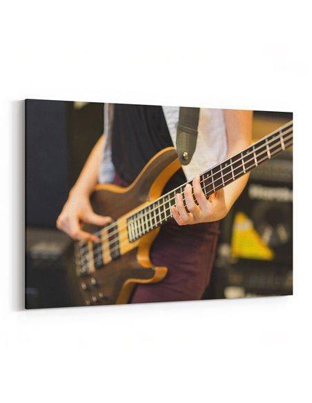 Gitar Çalan Müzisyen Kanvas Tablo