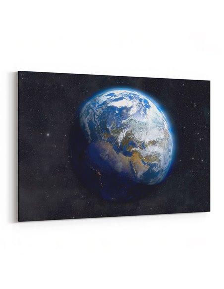 Uzaydan Dünyamız Kanvas Tablo