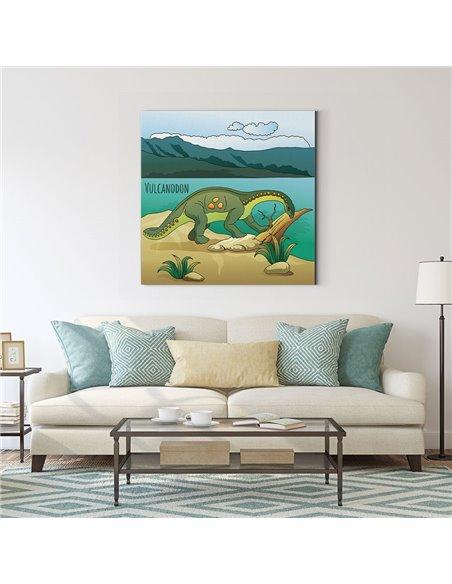 Dinozor - Vulcanodon Kanvas Tablo