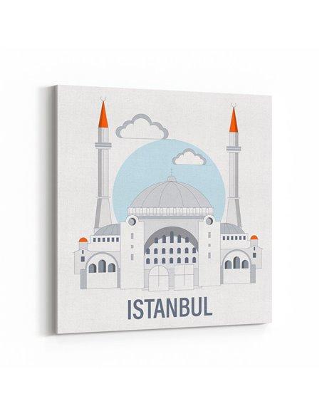 İstanbul İllüstrasyon Kanvas Tablo