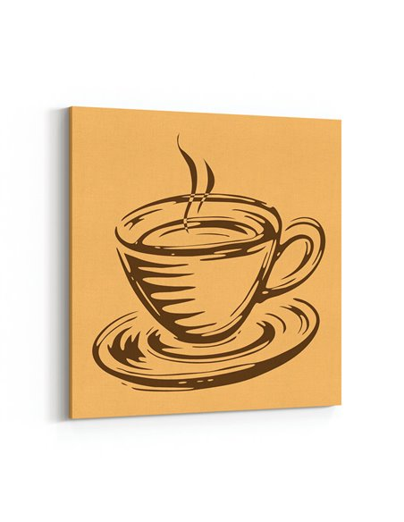 Kahve Fincanı Kanvas Tablo