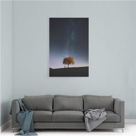 Gökyüzü ve Ağaç Kanvas Tablosu