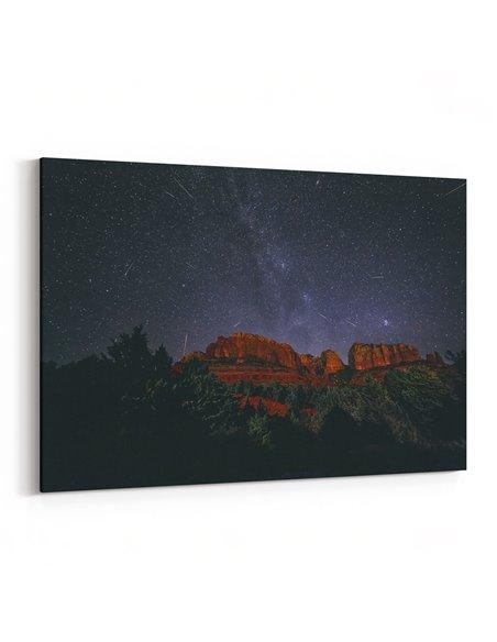 Yıldızlar ve Dağ Kanvas Tablo