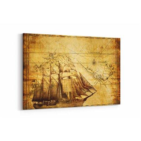 Yelkenli ve Harita Kanvas Tablosu