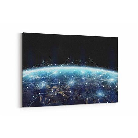 Uzaydan Dünya  Kanvas Tablosu