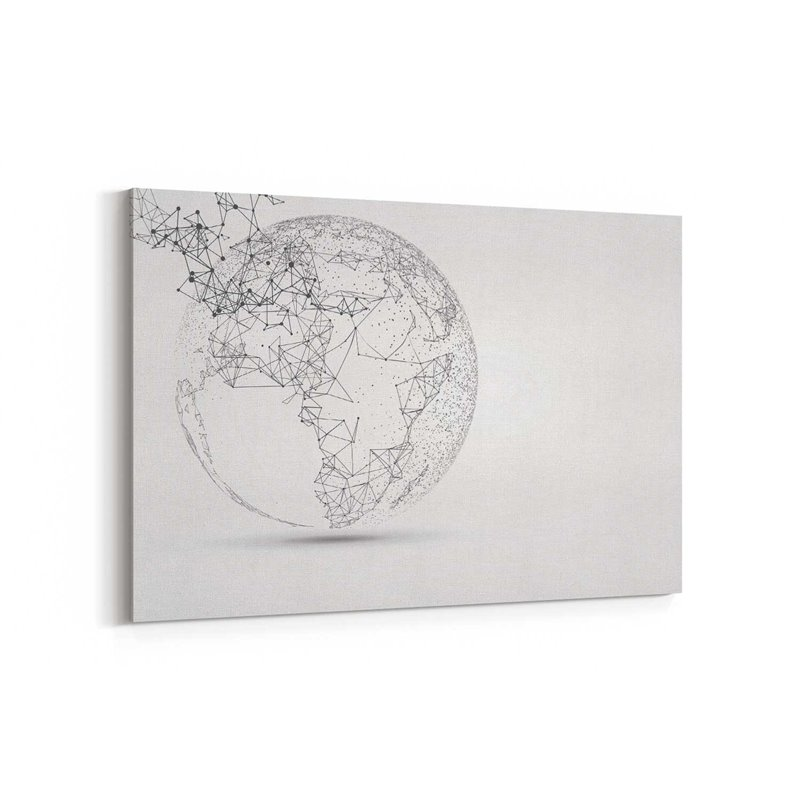Dünya Küresi Kanvas Tablosu