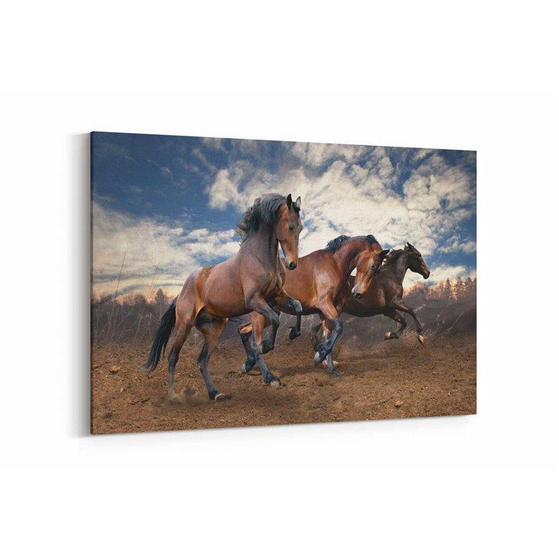 Koşan Atlar Kanvas Tablosu