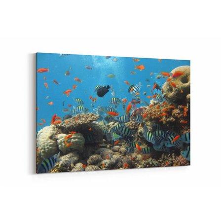 Tropik Balıklar Kanvas Tablosu
