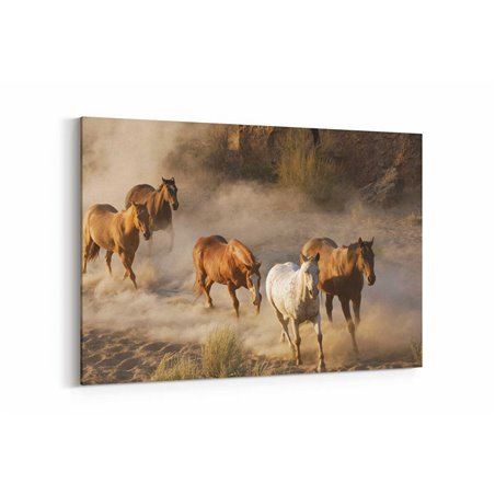 Vahşi Atlar Kanvas Tablosu