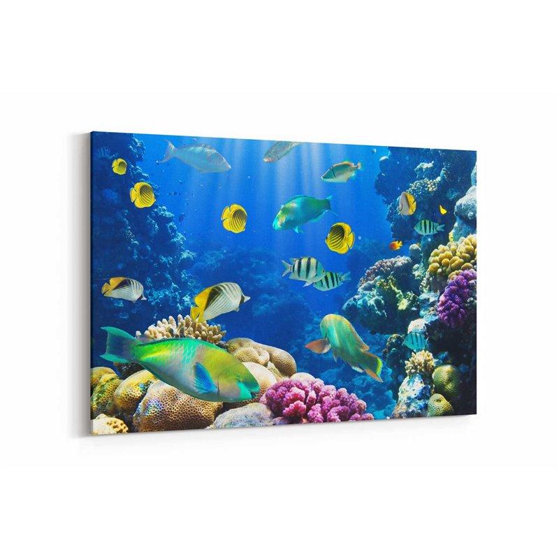 Tropikal Balıklar Kanvas Tablosu