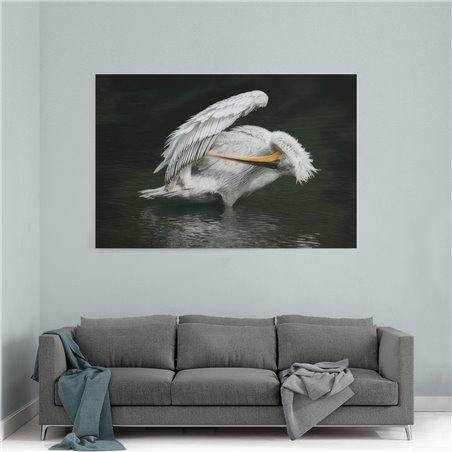 Pelikan Kanvas Tablosu