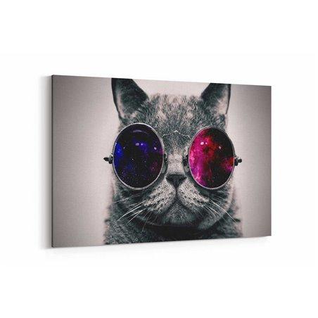 Gözlüklü Kedi Kanvas Tablosu