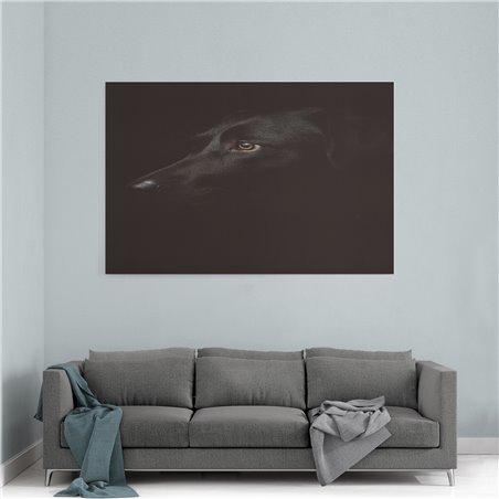 Siyah Köpek Kanvas Tablosu
