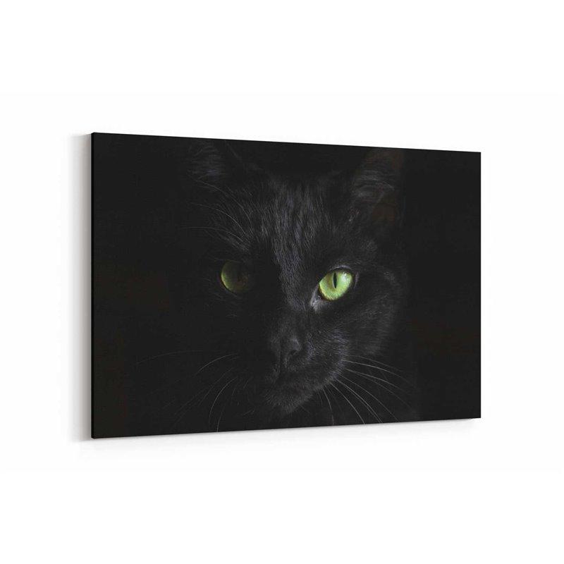 Siyah Kedi Kanvas Tablosu