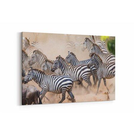 Zebra Sürüsü Kanvas Tablosu