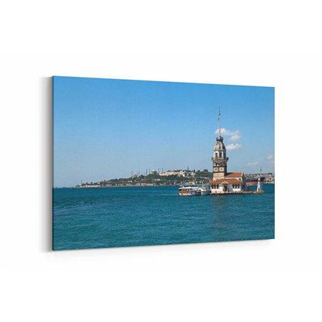Kız Kulesi ve İstanbul Manzarası Kanvas Tablosu