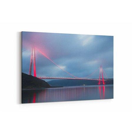 Yavuz Sultan Selim Köprüsü ve Işıkları Kanvas Tablosu