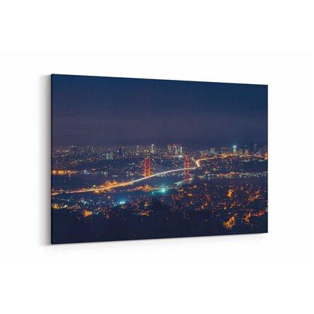 Boğaziçi Köprüsü Gece Manzarası Kanvas Tablosu