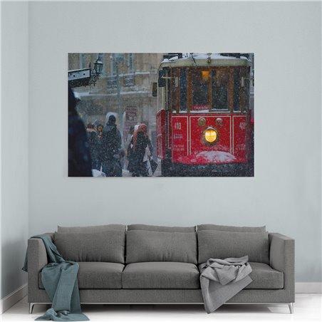 Taksim Tramvayı Kanvas Tablosu