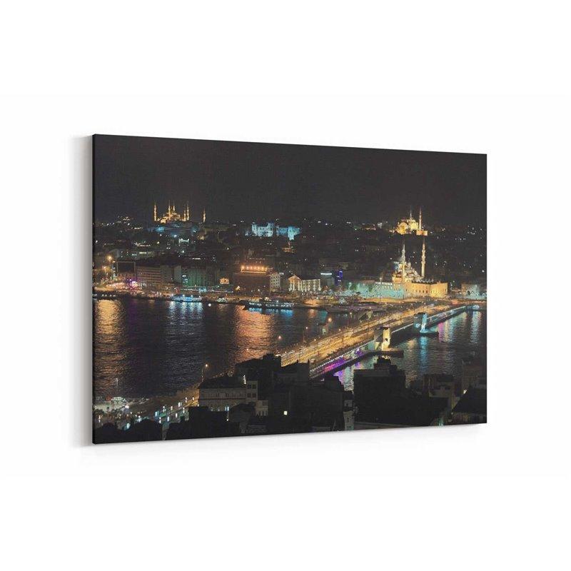 Gece İstanbul Kanvas Tablosu