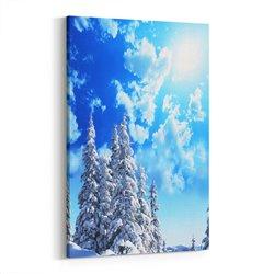 Karlı Ağaçlar Kanvas Tablosu