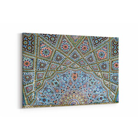 Osmanlı Mozaik Motif Kanvas Tablosu