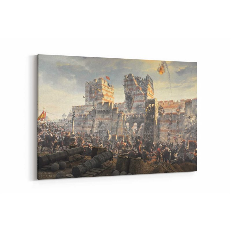 İstanbulun Fethi 1453 Kanvas Tablosu