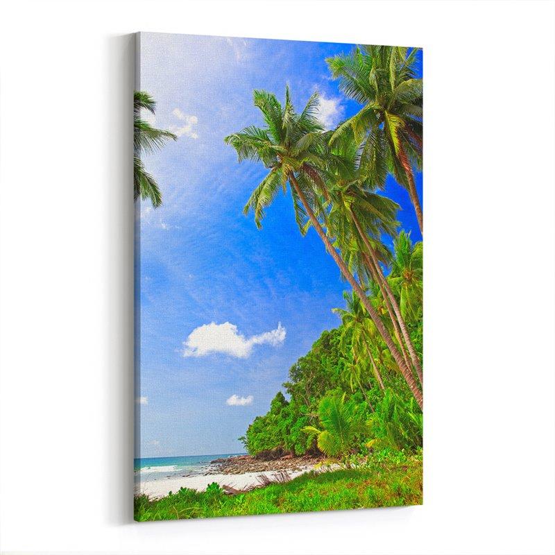 Palmiyeler Kanvas Tablosu