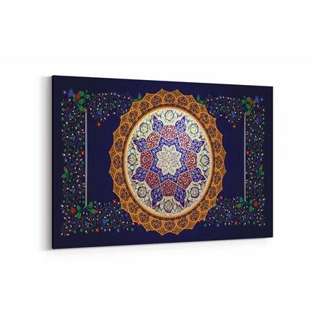 Osmanlı Motifli Desen Kanvas Tablosu