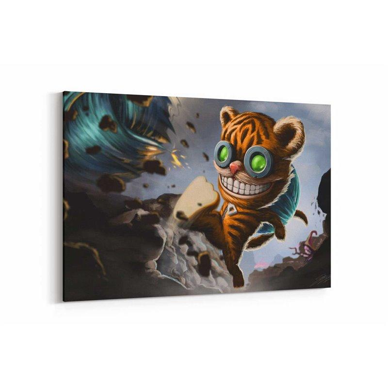 League Of Legends Ziggs Kanvas Tablosu