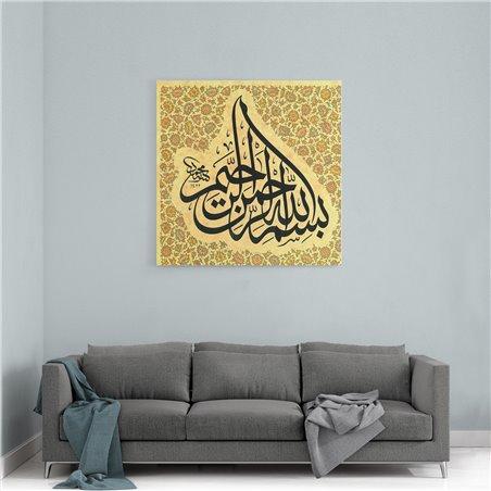 Bismillah Kaligrafisi Kanvas Tablo