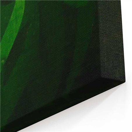 Ahmed Khan Yeşil Kaligrafi Kanvas Tablo