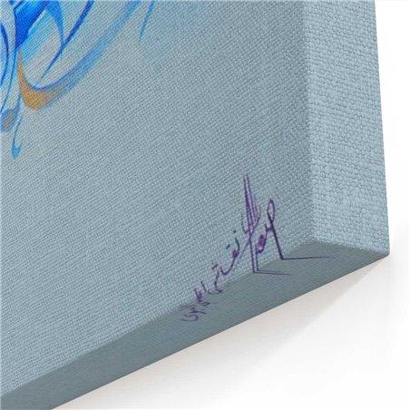 Asghar Ali Kaligrafi Kanvas Tablo