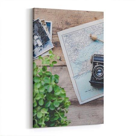 Fotoğraf ve Harita Kanvas Tablosu