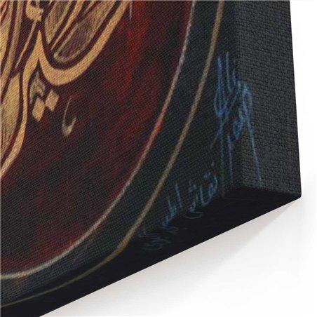 Renkli Arapça Kaligrafik  Kanvas Tablo