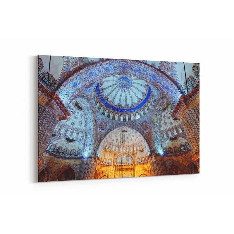 Camii İç İşlemesi Kanvas Tablo
