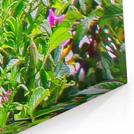 Çiçekler ve Deniz Kanvas Tablo