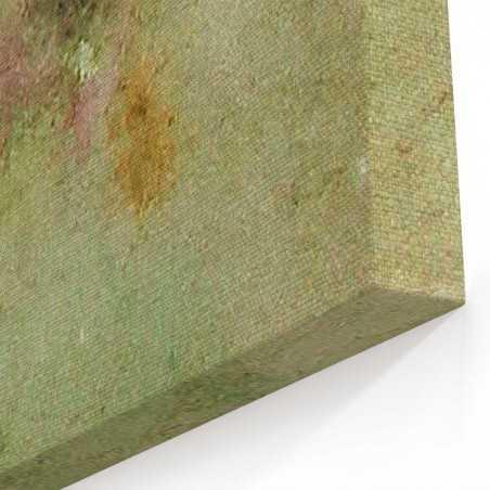 Sulu Boya Görünümlü Orman Kanvas Tablo