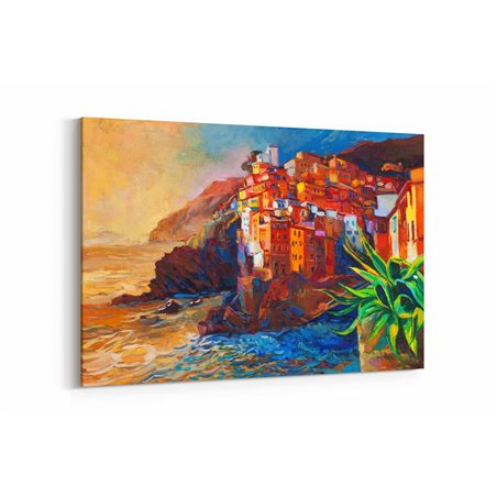 Yağlı Boya Görünümlü Amalfi Kanvas Tablo