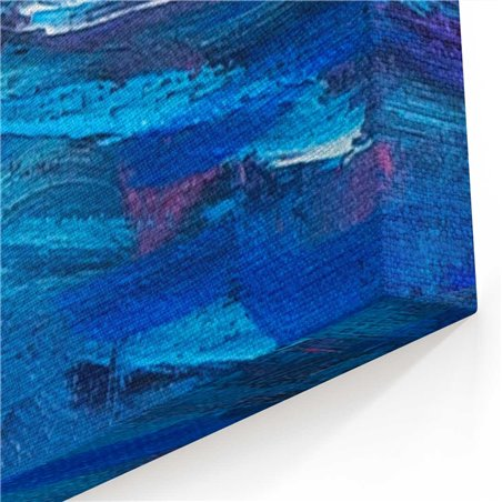 Yağlı Boya Görünümlü Ada Sahili Kanvas Tablo