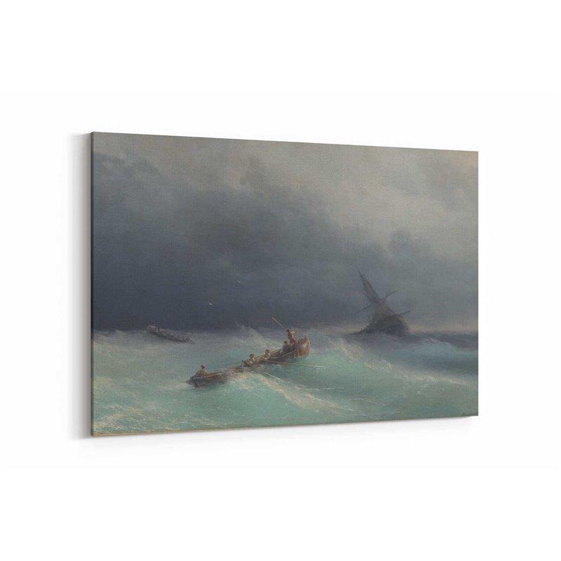 Yağlı Boya Görünümlü Fırtınalar Kanvas Tablo