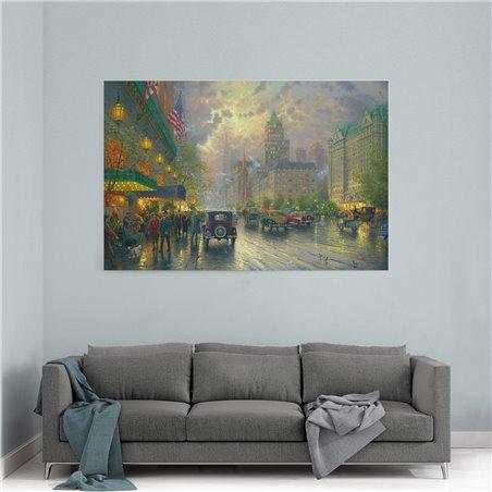 Yağlı Boya Görünümlü New York 5th Avenue Kanvas Tablo