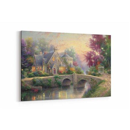 Yağlı Boya Görünümlü Lamplight Manor Kanvas Tablo
