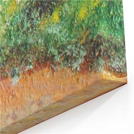 Yağlı Boya Görünümlü Sonbahar Yaprakları Kanvas Tablo