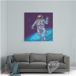 Astronot Uzayda Kanvas Tablo