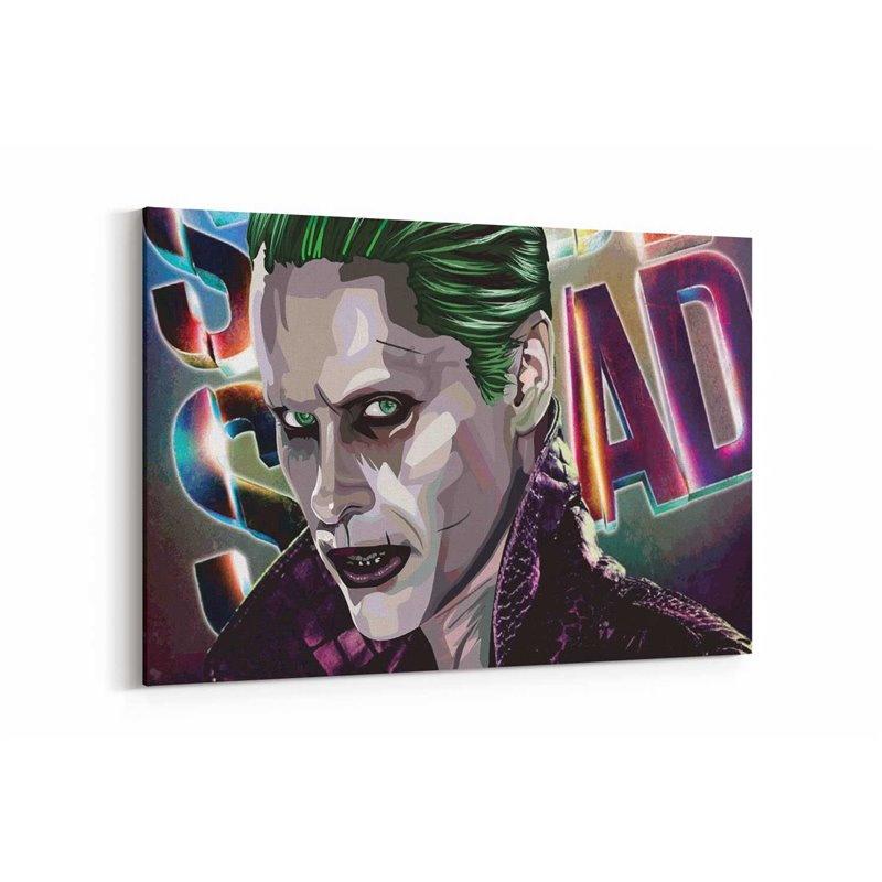 Joker Çizimi Kanvas Tablo